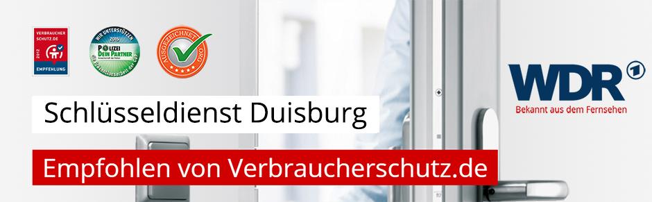 Schlüsseldienst Duisburg - Empfohlen von Verbraucherschutz.de